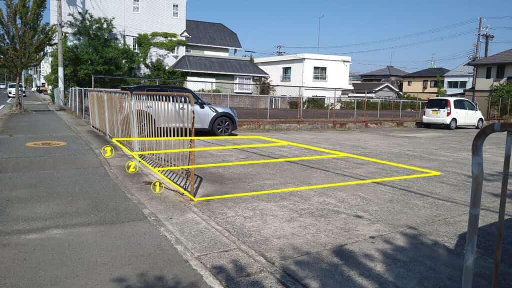 駐車場からの道順①